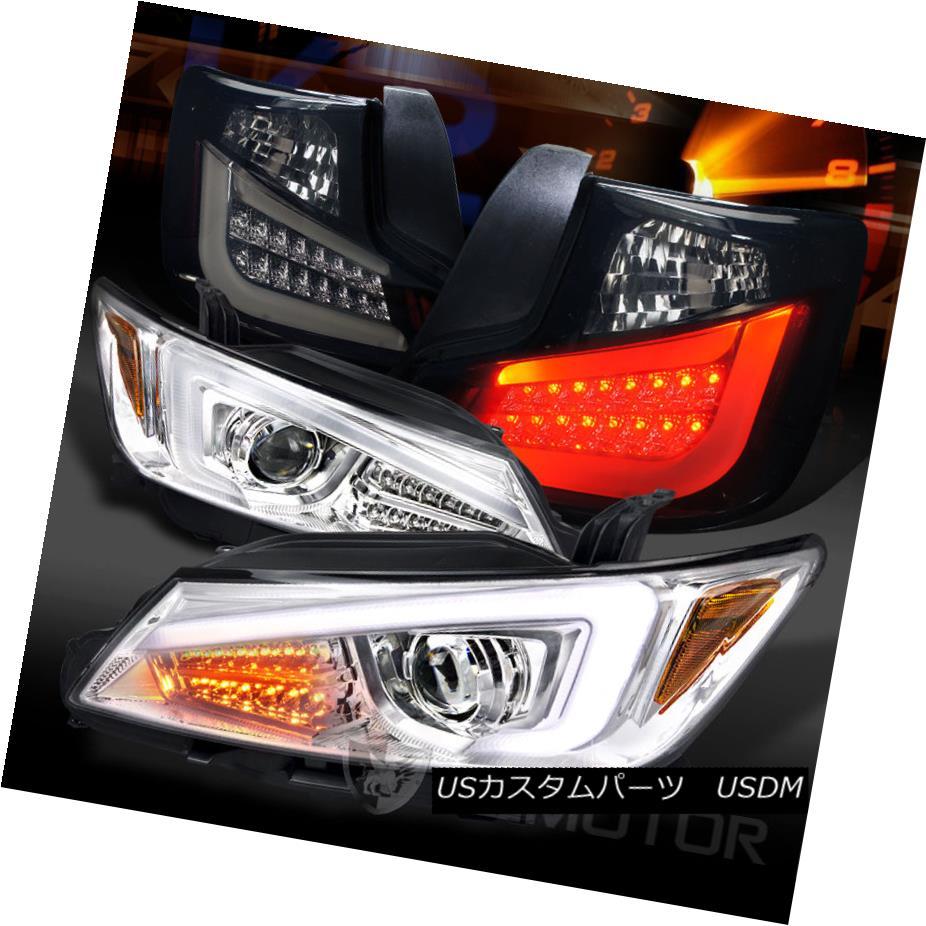 テールライト 11-13 Scion tC Clear LED Signal Projector Headlights+Glossy Black LED Tail Lamps 11-13シオンtCクリアLEDシグナルプロジェクターヘッドライト+グロー ssyブラックLEDテールランプ