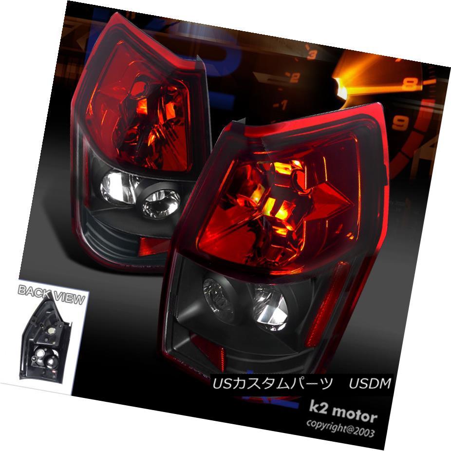 テールライト 2005-2008 Dodge Magnum Rear Brake Tail Lights Lamps Red/Black Left+Right 2005-2008 Dodge Magnumリアブレーキテールライトランプレッド/ブラックLeft + Right