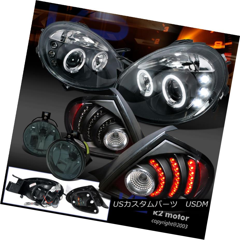 テールライト Black 03-05 Neon Halo Projector Headlight+LED Rear Tail Lamp+Smoke Fog Lights ブラック03-05ネオンハロープロジェクターヘッドライト+ LEDリアテールランプ+スモークフォグライト