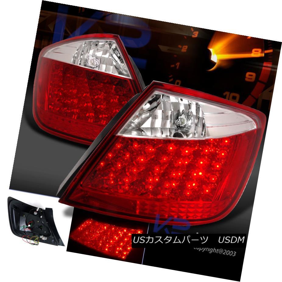 テールライト 2004-2010 Scion tC JDM Crystal Red Clear Lens LED Rear Tail Brake Lights 2004-2010シオンtC JDMクリスタルレッドクリアレンズLEDリアテールブレーキライト
