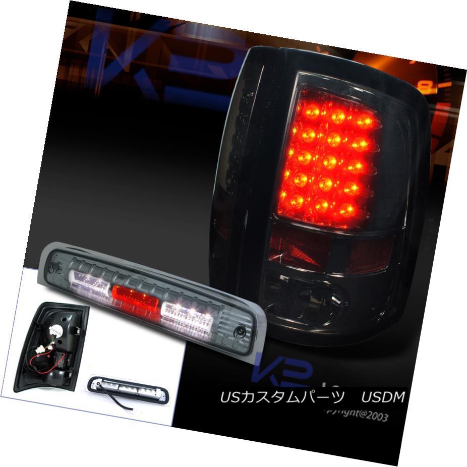 テールライト 09-13 Ram 1500 10-13 Ram 2500 3500 LED Tail Lights Smoke+3rd Brake Lamp Tinted 09-13ラム1500 10-13ラム2500 3500 LEDテールライトスモーク+第3ブレーキランプ