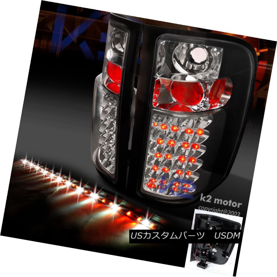 テールライト 2007-2014 Chevy Silverado Black LED Tail Lights+60
