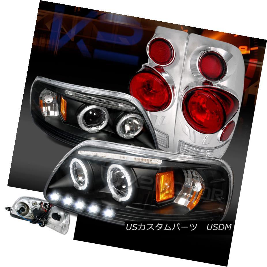 テールライト ome 97-03 F150 Black Projector Dual Halo LED LED Projector Headlights+Chrome 3D Tail Brake Lamps 97-03 F150ブラックデュアルHalo LEDプロジェクターヘッドライト+ Chr ome 3Dテールブレーキランプ, 一迫町:b0093f5c --- officewill.xsrv.jp