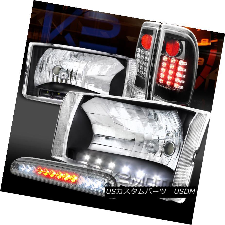 テールライト 99-04 F250 SuperDuty DRL Headlights+Black LED Tail Lamps+Clear 3rd Brake 99-04 F250 SuperDuty DRLヘッドライト+ Bla ck LEDテールランプ+クリア第3ブレーキ