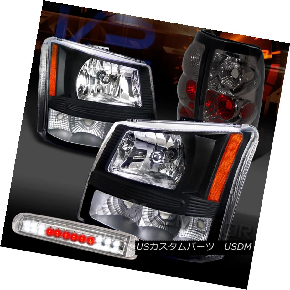 テールライト 03-06 Silverado Black Headlights+Clear LED 3rd Brake+Smoke Tail Lamps 03-06 Silverado Blackヘッドライト+ Cle ar LED第3ブレーキ+煙テールランプ