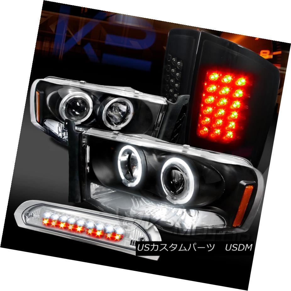 車用品 バイク用品 >> パーツ ついに再販開始 ライト ランプ テールライト 完全送料無料 02-05 Ram Halo Projector 3rd LED ssyブラックLEDテールランプ+ Tail Black 02-05ラムハロープロジェクターヘッドライト+グロー Brake Headlights+Glossy LED第3ブレーキ Lamps+LED