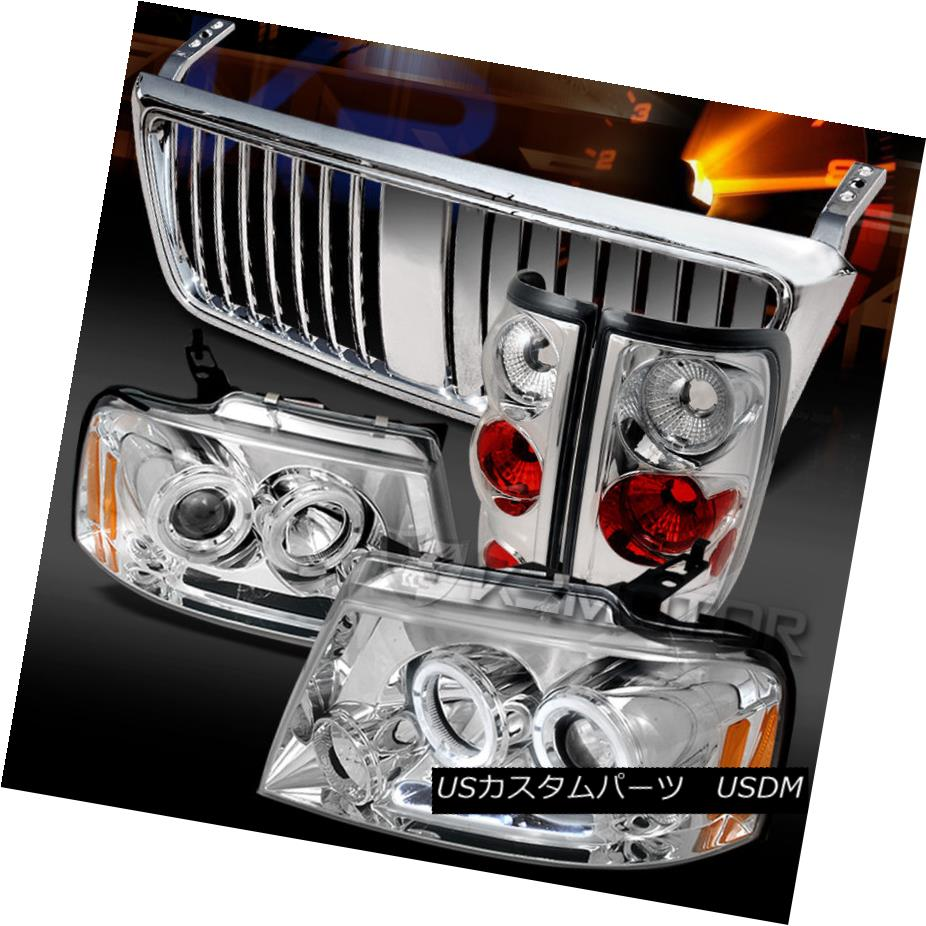 <title>車用品 バイク用品 >> パーツ ライト ランプ テールライト 04-08 F150 Chrome Halo 数量限定 LED Projector Headlights+Tail Lamps+Vertical Grille F150クロームハローLEDプロジェクターヘッドライト+タイ lランプ+垂直グリル</title>