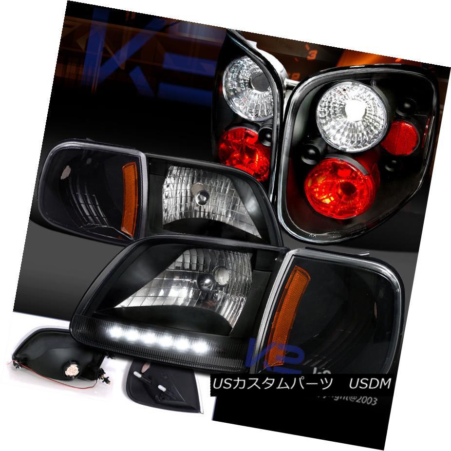 テールライト 97-00 テールライト F150 Pick Up Lens Black LED Up DRL Headlight+Corner Light+Clear Lens Tail Lamp 97-00 F150ピックアップブラックLED DRLヘッドライト+コーン erライト+クリアレンズテールランプ, 三島の通販:03b69027 --- officewill.xsrv.jp
