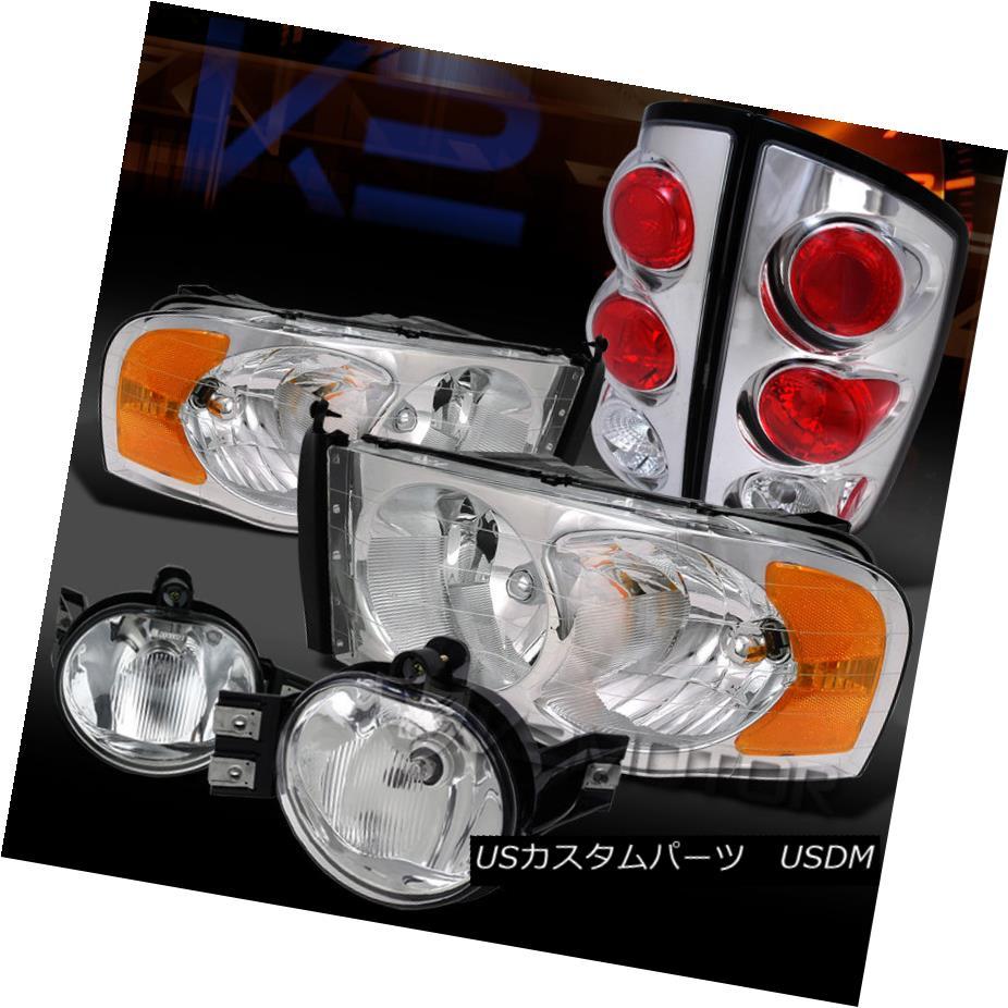 テールライト 02-05 RAM 1500 2500 3500 CHROME CRYSTAL HEADLIGHT+TAIL LIGHTS+CLEAR FOG LAMP 02-05 RAM 1500 2500 3500 CHROME CRYSTALヘッドライト+テールライト+クリアフォグランプ
