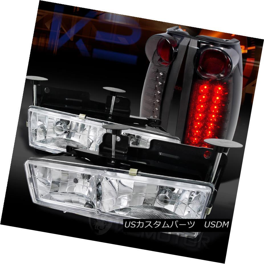 テールライト ke 88-98 Lamps Chevy/GMC C C/K C10 Truck Chrome Headlights+Smoke LED Tail Lamps 88-98シボレー/ GMC C/ K C10トラッククロームヘッドライト+スモーク ke LEDテールランプ, ヨークスオンライン:25cbfeb1 --- officewill.xsrv.jp