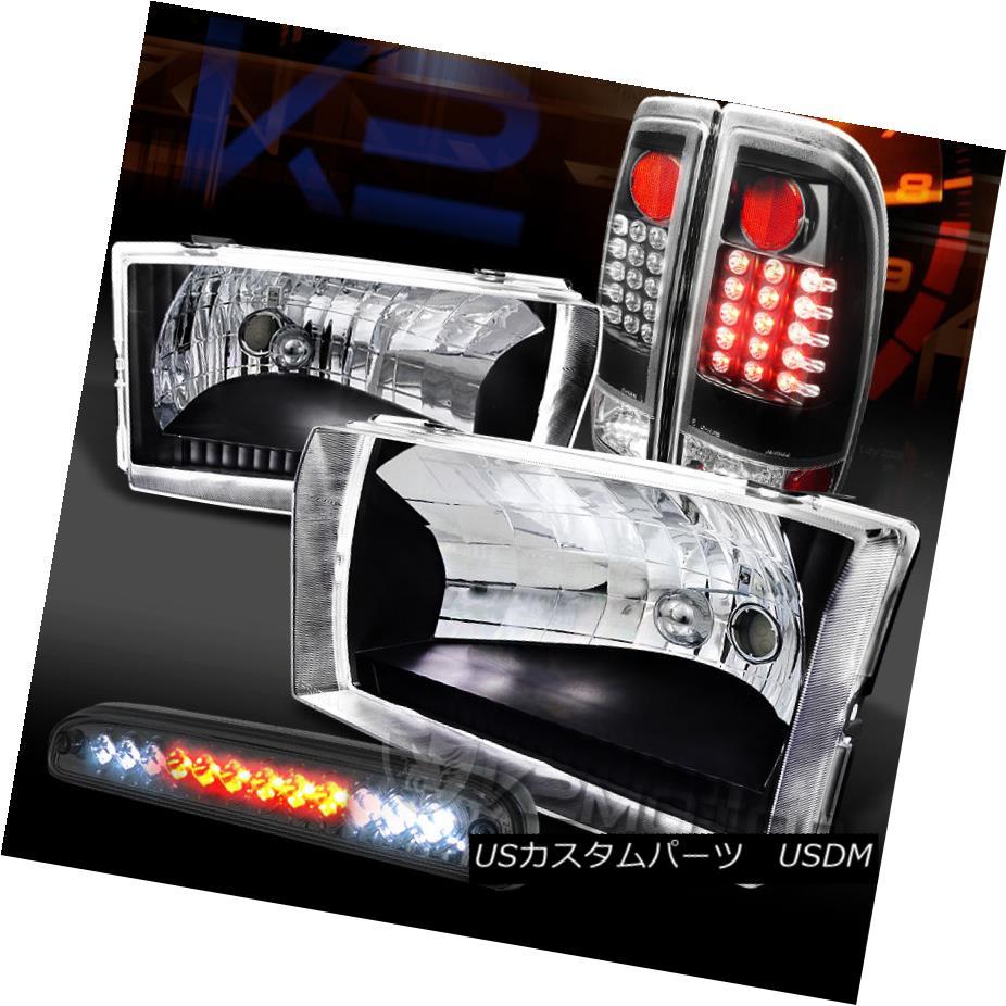 テールライト 99-04 F250/350 SuperDuty Black Headlights+LED Tail Lamps+Smoke LED 3rd Brake 99-04 F250 / 350 SuperDutyブラックヘッドライト+ LEDテールランプ+ Smoke LED 3rdブレーキ