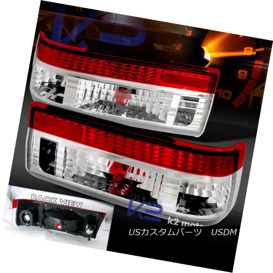 テールライト 83-87 TOYOTA COROLLA AE86 HATCHBACK RED CLEAR TAIL LIGHTS LAMPS 83-87トヨタコーラAE86ハッチバックレッドクリアテールライトランプ