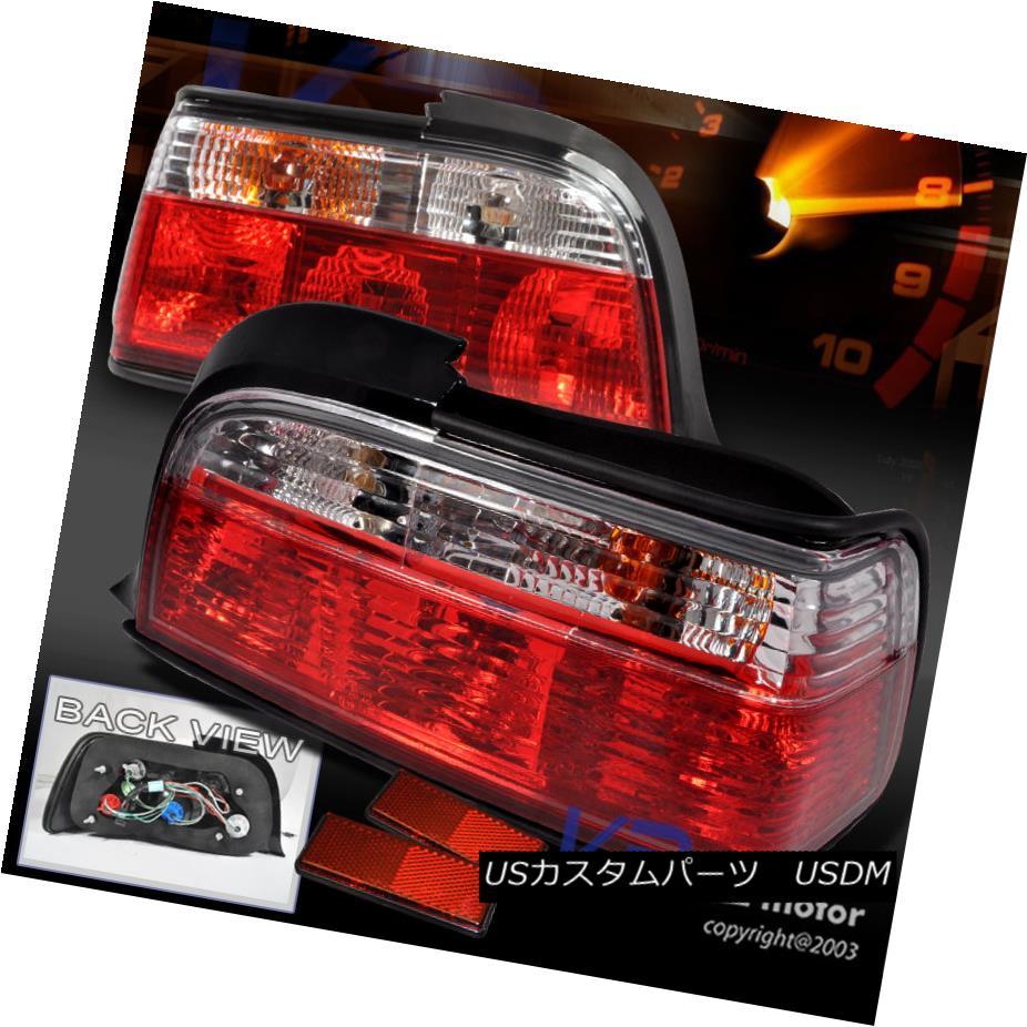 テールライト 1992-1998 BMW E36 3-Series 2Dr Tail Lights Red Clear 1992-1998 BMW E36 3シリーズ2Drテールライトレッドクリア