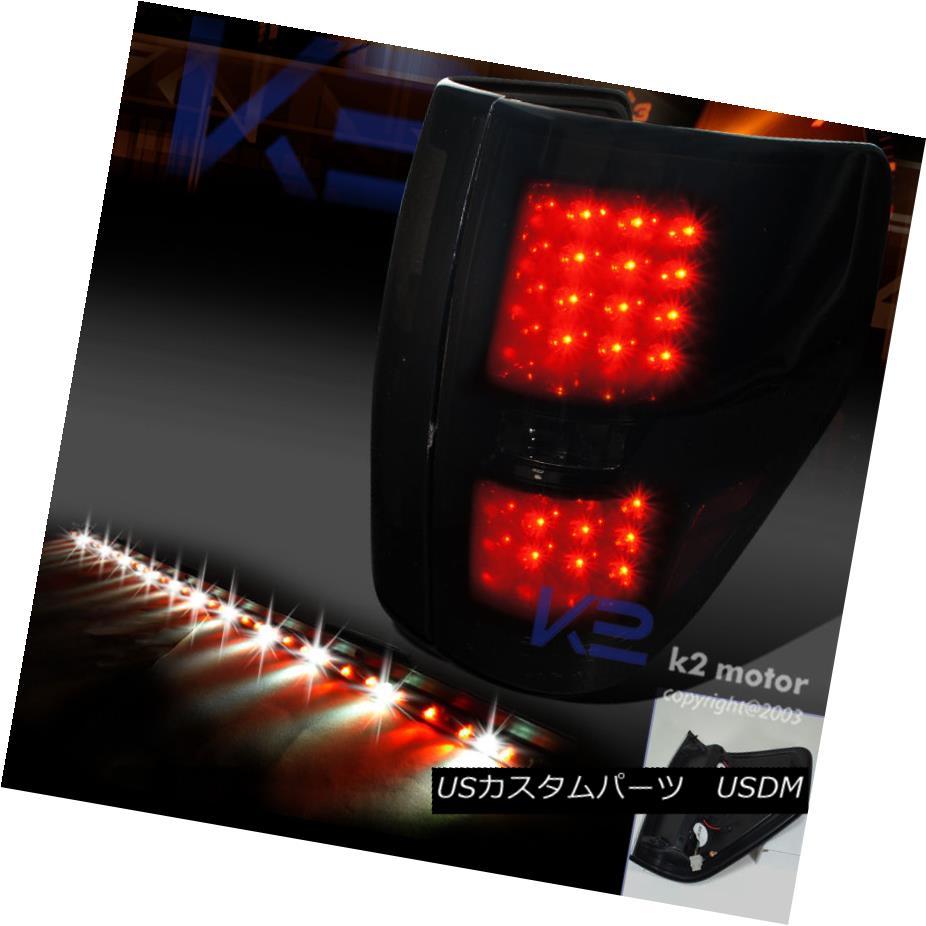 テールライト Dark Smoke 2009-2014 Ford F150 Piano Black LED Tail Lights+60