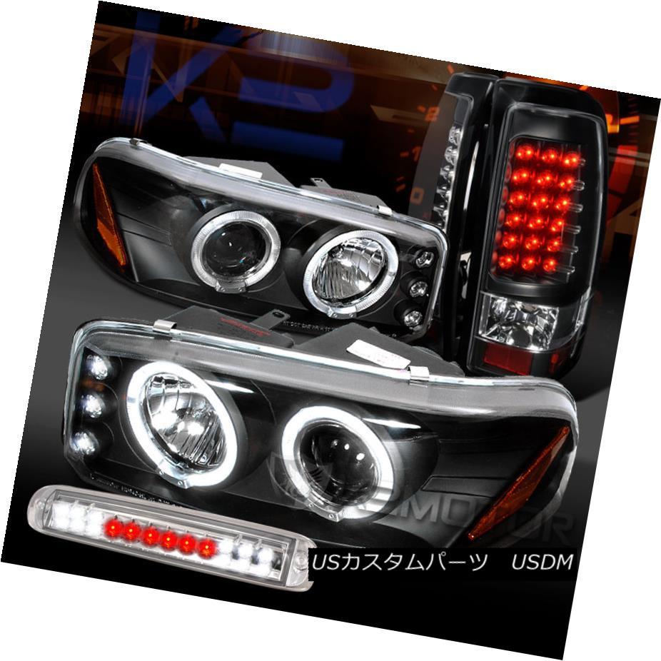 車用品 バイク用品 >> パーツ ライト ランプ テールライト 04-06 Sierra Black Projector 3rd Tail 04-06シエラブラックプロジェクターヘッドライト+ Headlights+LED Brake 完売 割り引き LEDテールランプ+クリアLED第3ブレーキ LED Lamps+Clear