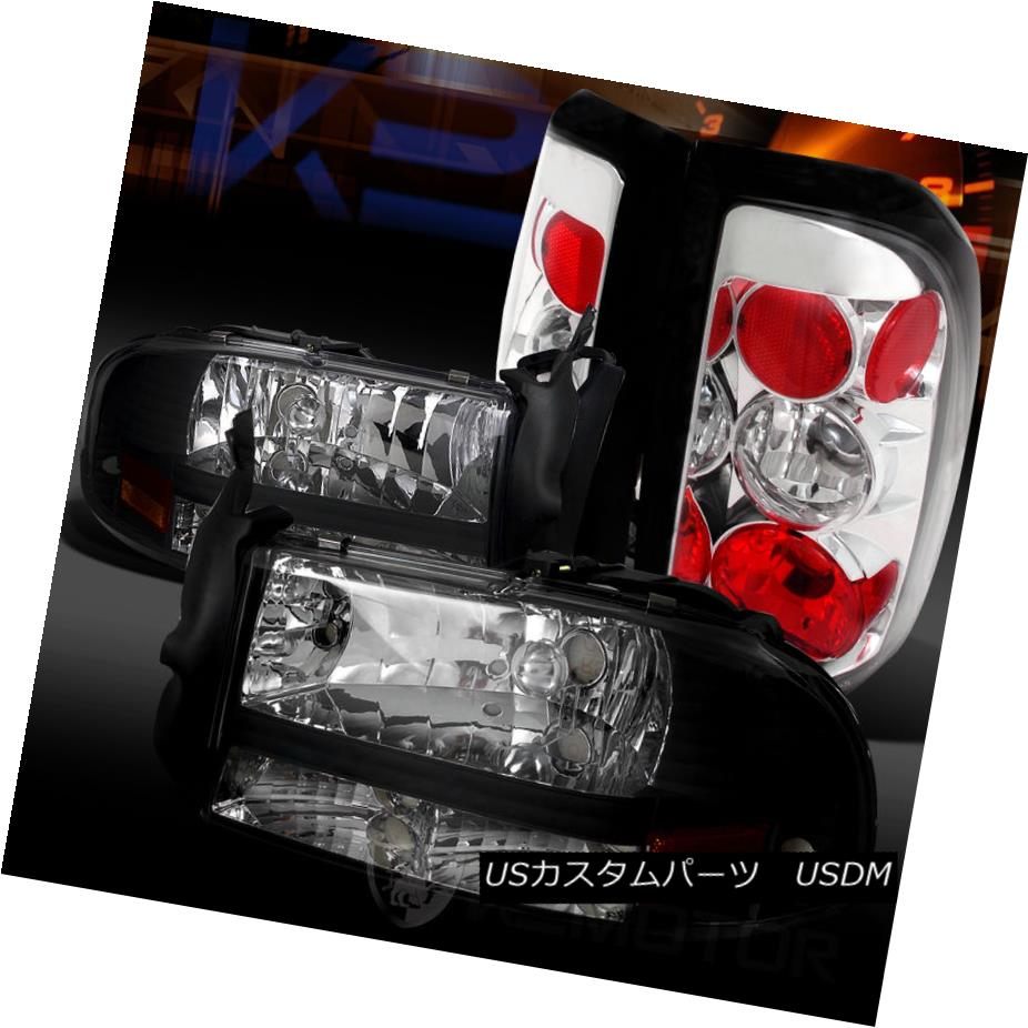テールライト 1PC 97-04 Dodge Dakota Black 1PC Style Cle Headlights+Clear Rear Style Tail Lamps 97-04ダッジダコタブラック1PCスタイルヘッドライト+ Cle arリアテールランプ, SALAD BOWL DELI:4b512853 --- officewill.xsrv.jp