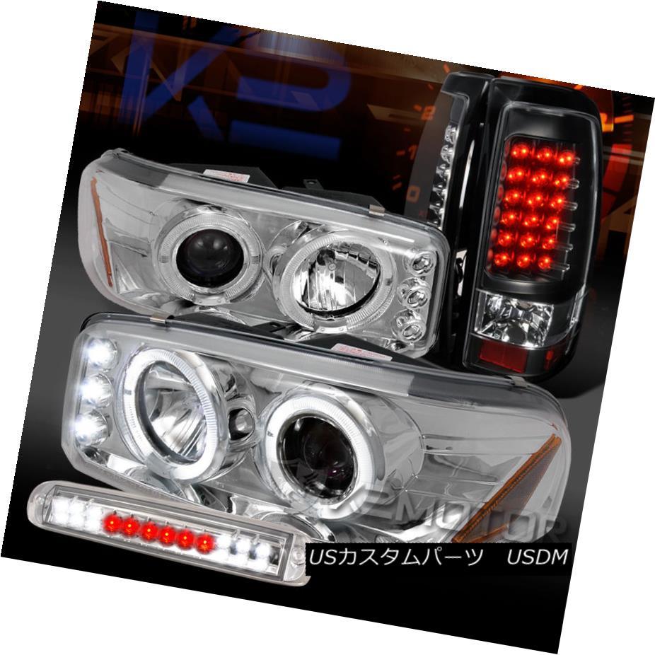 車用品 バイク用品 >> パーツ ライト ランプ テールライト 04-06 Sierra Chrome 04-06シエラクロームプロジェクターヘッドライト+ Brake+Black Tail Headlights+LED 3rd Projector Lamps LED第3ブレーキ+ブラックLEDテールランプ LED お見舞い 激安