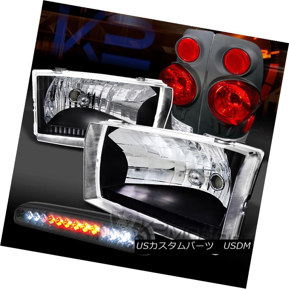 テールライト 99-04 F250/350 SuperDuty Black Headlights+3D Tail Lamps+Smoke LED 3rd Brake 99-04 F250 / 350 SuperDutyブラックヘッドライト+ 3Dテールランプ+ Smoke LED 3rdブレーキ