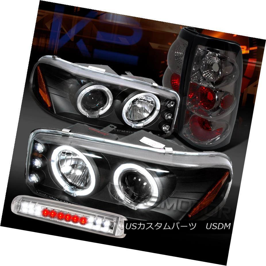 テールライト 04-06 Sierra Black Projector Headlights+Smoke Tail Lamps+Clear LED 3rd Brake 04-06シエラブラックプロジェクターヘッドライト+スモーキー keテールランプ+クリアLED第3ブレーキ
