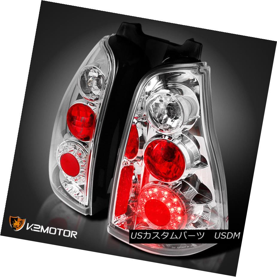 テールライト 2003-2005 Toyota 4Runner Crystal Clear LED Tail Lights Pair Left+Right 2003-2005トヨタ4RunnerクリスタルクリアLEDテールライトペア左+右