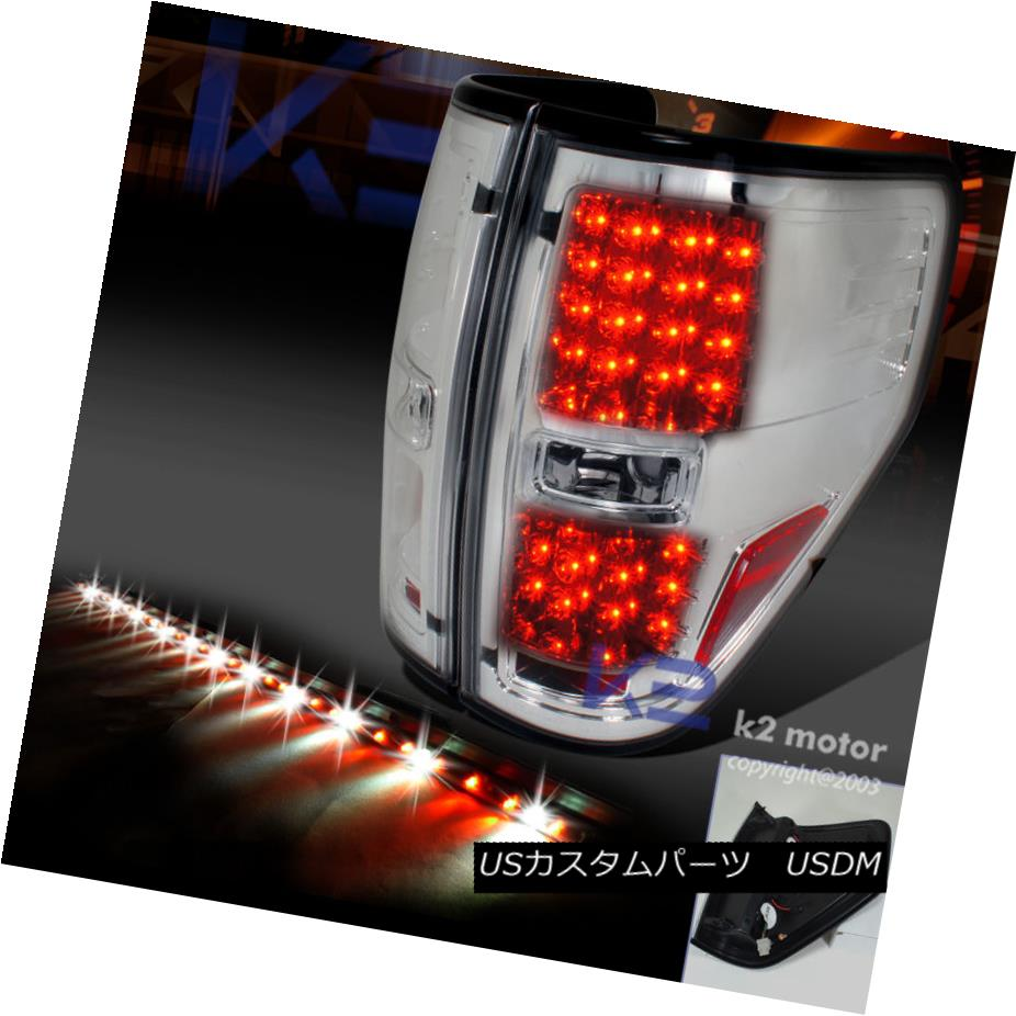 """Fit 2009-2014 FORD F150 SMOKE LED TAIL LIGHTS+60/"""" TAILGATE BAR"""