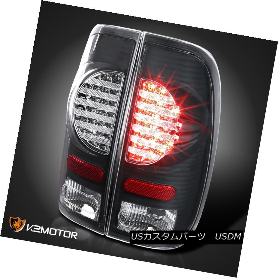テールライト 97-03 Ford F150 99-07 F250 SuperDuty Styleside Black Rear Brake LED Tail Lights 97-03 Ford F150 99-07 F250 SuperDuty StylesideブラックリアブレーキLEDテールライト