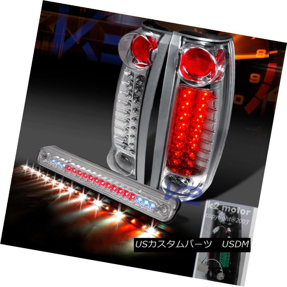 テールライト 1988-1998 Chevy GMC C10 Tail C/K C C10 Chrome LED Tail Lights+3rd Brake+Tailgate Signal Bar 1988-1998シボレーGMC C10 C/ KクロームLEDテールライト+第3ブレーキ+テイルゲート信号バー, ながさきけん:75e88b66 --- officewill.xsrv.jp