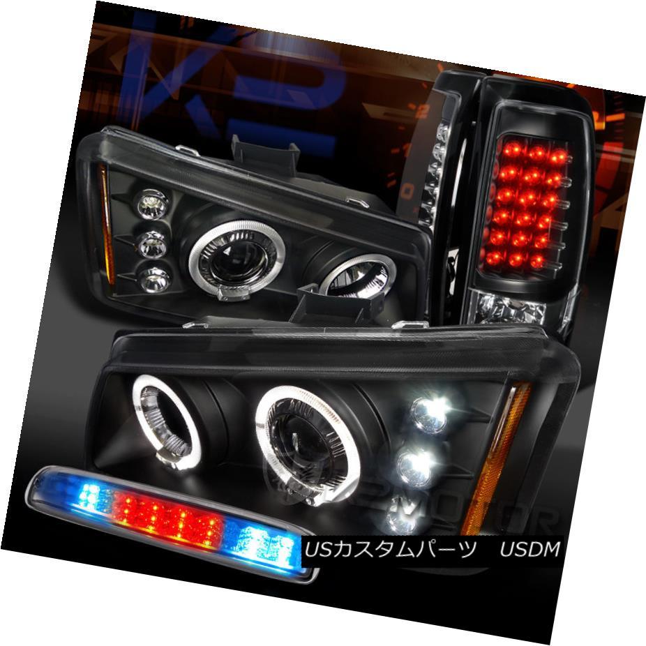 <title>車用品 バイク用品 >> パーツ ライト ランプ テールライト 03-06 Silverado Black Halo Projector Headlight+LED Tail 即納 Clear 3rd Stop Lamps Haloプロジェクターヘッドライト+ LEDテールクリア第3ストップランプ</title>