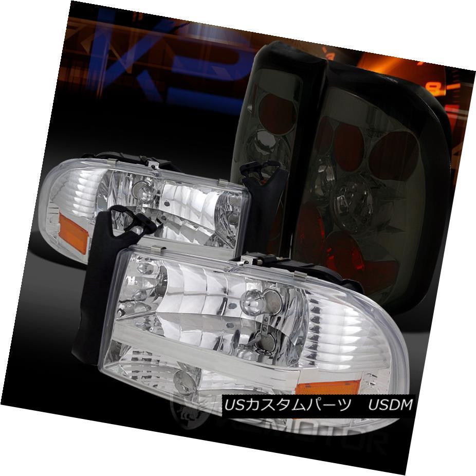 テールライト 97-04 Style Dodge Lamps Dakota Chrome 1PC Style Headlights+Smoke 97-04 Tail Brake Lamps 97-04ダッジダコタクローム1PCスタイルヘッドライト+スモーク keテールブレーキランプ, 本別町:dfc369db --- officewill.xsrv.jp