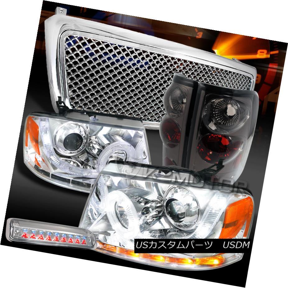 テールライト 04-08 F150 Chrome SMD DRL Headlights+LED 3rd Stop+Grille+Smoke Tail Lamps 04-08 F150 Chrome SMD DRLヘッドライト+ LED第3ストップ+グリル+ Sm okeテールランプ