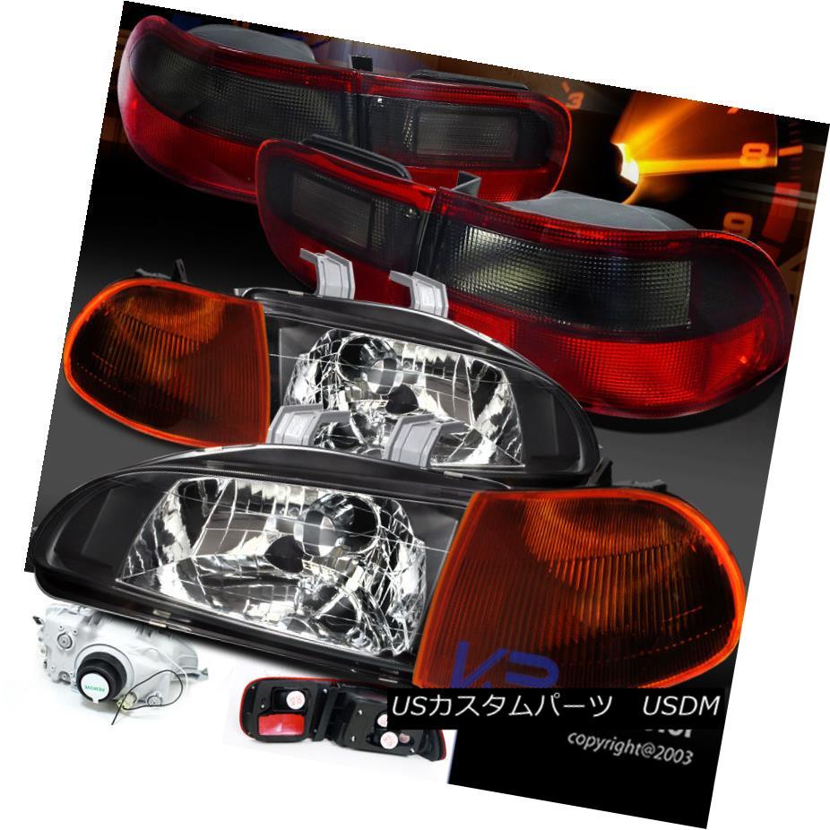 テールライト For 92-95 Civic 4Dr For Sedan JDM Black テールライト Headlights+Smoke Lamp Corner Signal+Tail Lamp 92-95シビック4DrセダンJDMブラックヘッドライト+スモーク keコーナー信号+テールランプ, 赤ちゃんとママの店マリモ:ec834e19 --- officewill.xsrv.jp