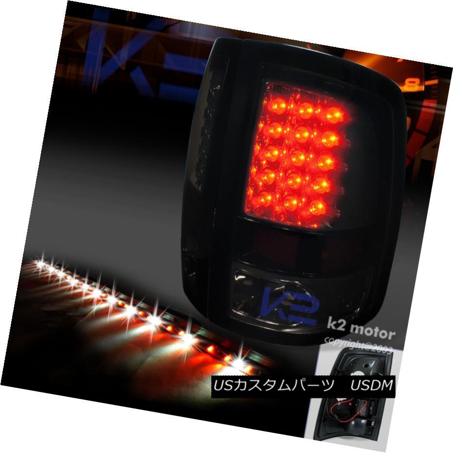 テールライト 09-17 DODGE RAM PIANO BLACK LED TAIL LIGHTS+60