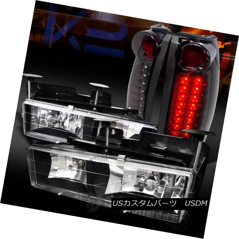 テールライト 88-98 K Chevy LEDテールランプ/GMC C Tail/K C10 Truck Black Headlights+Smoke LED Tail Lamps 88-98シボレー/ GMC C/ K C10トラックブラックヘッドライト+スモール ke LEDテールランプ, SG MALL:47985033 --- officewill.xsrv.jp