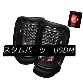 テールライト Dodge 94-01 Ram 1500/2500/3500 Black LED Tail Lights Brake Lamps Left & Right ドッジ94-01 RAM 1500/2500/3500ブラックLEDテールライトブレーキランプ左& 右