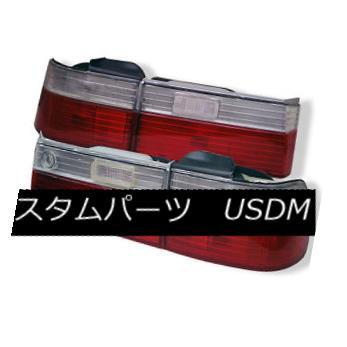 テールライト Honda 90-91 Accord 4Dr Sedan Red Clear Euro Style Rear Tail Lights DX LX EX SE ホンダ90-91アコード4DrセダンレッドクリアユーロスタイルリアテールライトDX LX EX SE