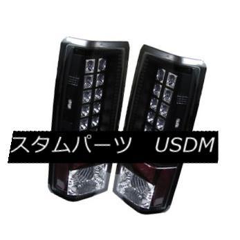 テールライト Chevy 85-05 Astro / GMC Safari Black LED Style Rear Tail Lights Set Brake Lamp Chevy 85-05アストロ/ GMCサファリブラックLEDスタイルリアテールライトブレーキランプセット