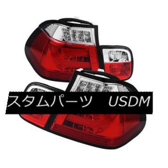 テールライト BMW 3-series 02-05 E46 4dr Red Clear LED Rear Tail Lights Strip Tube Style BMW 3シリーズ02-05 E46 4drレッドクリアLEDリアテールライトストリップチューブスタイル