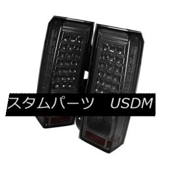 テールライト Hummer H3 06-09 Smoked LED Rear Tail Brake Lights Left & Right Side Hummer H3 06-09スモークLEDリアテールブレーキライト左& 右側