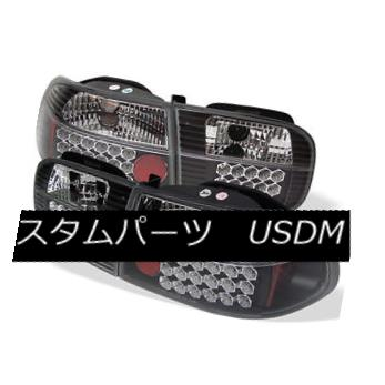 テールライト Honda 92-95 Civic 2/4Dr Black LED Tail Lights Brake Lamp DX EX LX Coupe Sedan ホンダ92-95シビック2 / 4DrブラックLEDテールライトブレーキランプDX EX LXクーペセダン
