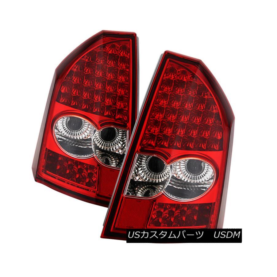 テールライト Chrysler 05-07 300C Red LED Rear Tail Brake Lights Lamp Left+Right Heritage SRT8 クライスラー05-07 300CレッドLEDリアテールブレーキライトランプ左+右Heritage SRT8