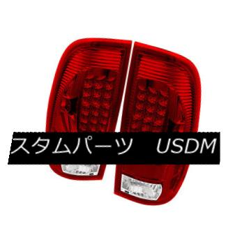 テールライト Ford 97-03 F150 99-07 F250/F350/F450/F550 SuperDuty Red Clear LED Tail Lights フォード97-03 F150 99-07 F250 / F350 / F450 / F550 SuperDuty Red Clear LEDテールライト