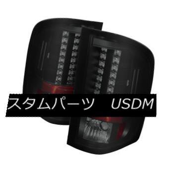 テールライト Chevy 07-14 Silverado GMC 3500 Dually Black Smoke LED Rear Tail Light Brake Lamp シボレー07-14 Silverado GMC 3500二重黒煙LED後部テールライトブレーキランプ