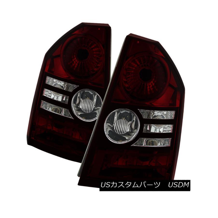 テールライト Chrysler 08-10 300 Red Smoked Replacement Rear Tail Brake Lights Limited Touring クライスラー08-10 300レッドテールブレーキライトリミテッドツーリング