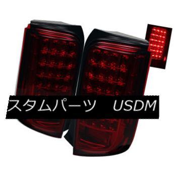 テールライト Scion 08-10 Xb LED Red Smoked Rear Tail Brake Lights Lamps Left & Right Side Scion 08-10 Xb LEDレッドスモークリアテールブレーキライトランプ左& 右側