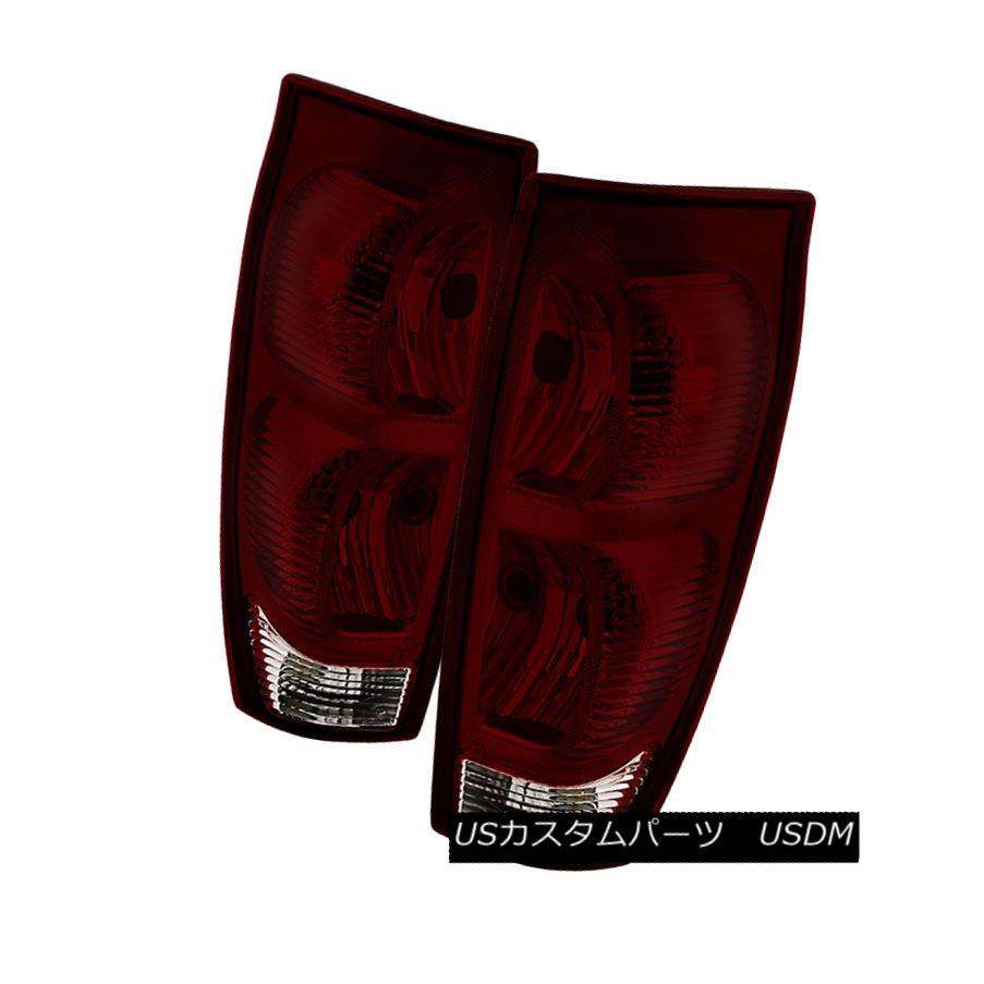 テールライト Chevy 02-06 Avalanche Red Smoked Replacement Rear Tail Brake Lights Set Chevy 02-06アバランチェ・レッド・スモーク・リプレイスメントリア・テール・ブレーキ・ライト・セット
