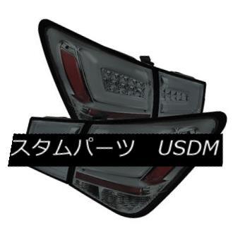 テールライト Chevy 11-15 Cruze Smoke LED Rear Tail Light Set Brake Lamp Strip Style シボレー11-15クルーズスモークLEDリアテールライトセットブレーキランプストリップスタイル