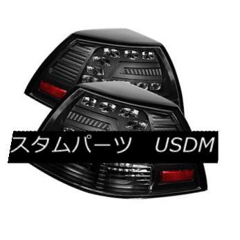 テールライト Pontiac 08-09 G8 Black LED Rear Tail Lights Brake Lamp Set GXP Base GT Sedan ポンティアック08-09 G8ブラックLEDリアテールライトブレーキランプセットGXPベースGTセダン
