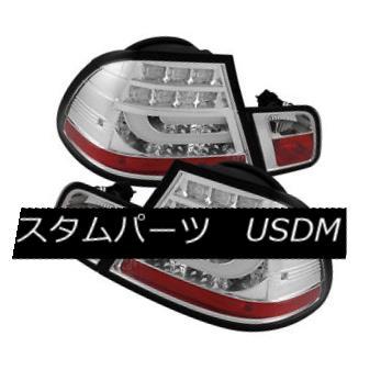 テールライト BMW 3-series 04-06 E46 2Dr Coupe Clear LED Rear Tail Lights Set Strip Style Lamp BMW 3シリーズ04-06 E46 2DrクーペクリアLEDリアテールライトセットストリップスタイルランプ