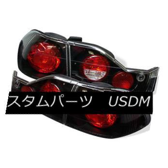 テールライト Honda 98-00 Accord 4dr Black Euro Style Rear Tail Lights Brake Lamp Set Sedan ホンダ98-00アコード4drブラックユーロスタイルリアテールライトブレーキランプセットセダン