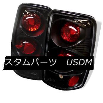 テールライト Chevy 00-06 Suburban Tahoe Yukon Black Rear Tail Lights Brake Lamp LS LT SLT SLE Chevy 00-06郊外のタホユコンブラックリアテールライトブレーキランプLS LT SLT SLE